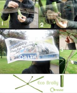 Product designer Shiu Yuk Yuen's eco brolly